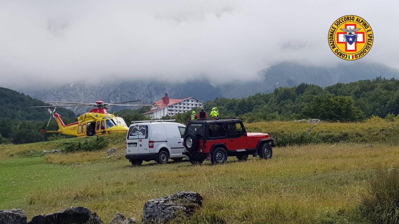 Gran Sasso, Ferrata Ricci: recuperata escursionista nel panico