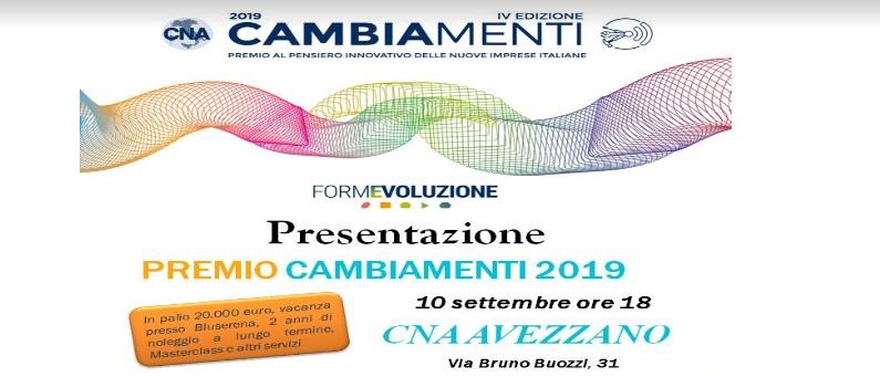 CNA Avezzano, al via la quarta edizione del premio Cambiamenti