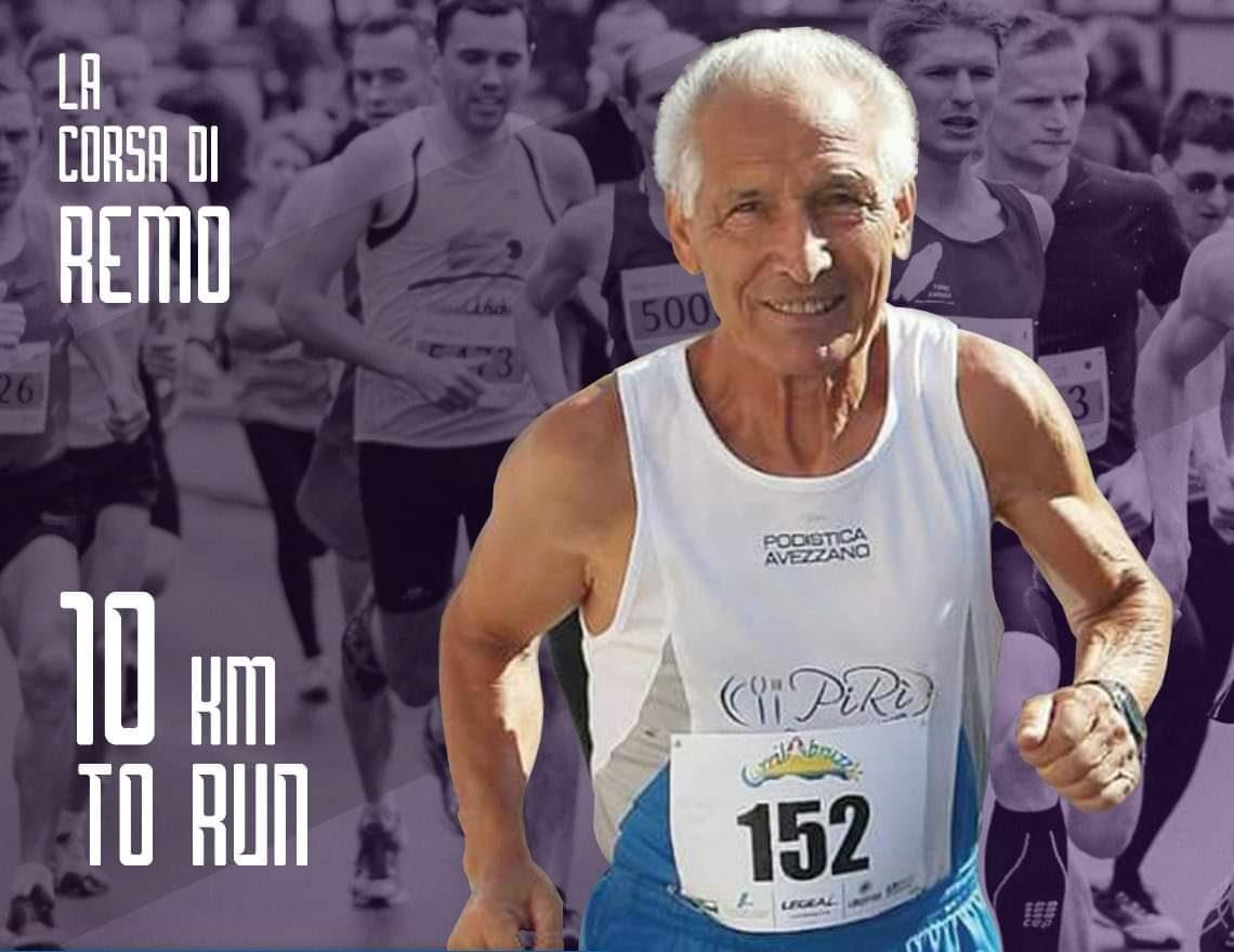 """Tutto pronto per """"La corsa di Remo"""", storico personaggio del mondo runner di Avezzano"""