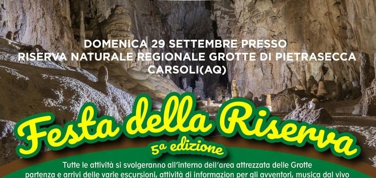 """Festa della Riserva delle Grotte di Pietrasecca, musica dal vivo, visite guidate, realtà immersiva e, novità 2019, il """"river trekking"""""""