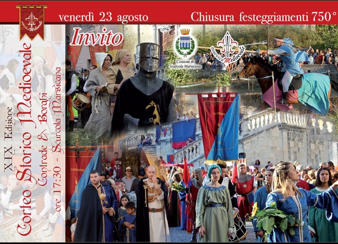 """Annullata la manifestazione """"Corteo Storico Medioevale"""" prevista a Scurcola Marsicana"""