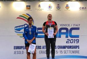 Pasqualina Pannunzi Proietti, la Belva marsicana vice campionessa europea nel getto del peso a Jesolo
