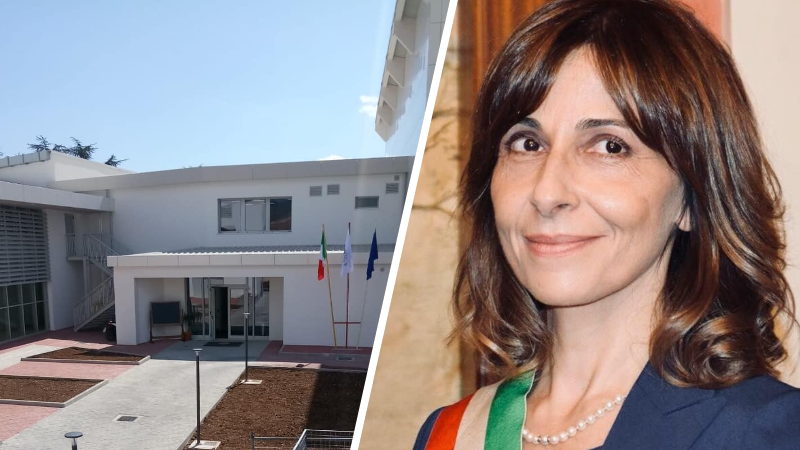 Pronta la nuova scuola a Magliano dei Marsi, soddisfazione del sindaco Mariangela Amiconi