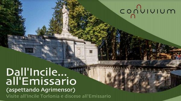 Dall'incile...All'emissario, aspettando Agrimensor. Visite All'incile Torlonia e discese all'emissario