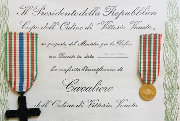 Elenco dei soldati appratenti all'ordine dei Cavalieri di Vittorio Veneto risiedenti nel comune di Pescina