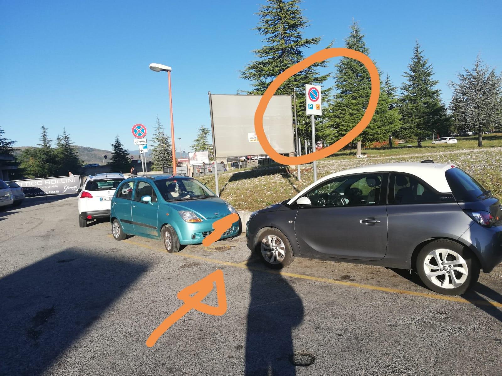 Disabile chiama i Vigili perché al pronto soccorso di Avezzano trova il parcheggio riservato occupato abusivamente