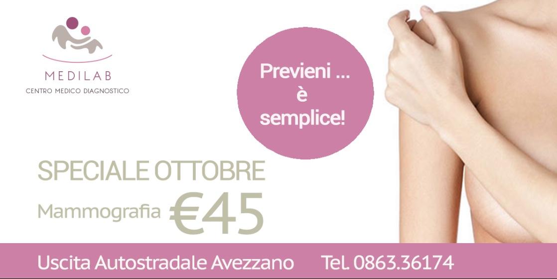 Ottobre è il mese della prevenzione del tumore al seno, da Medilab prevenire e semplice!