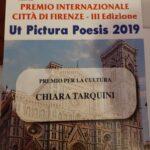 """IL Premio Internazionale alla Cultura """"Città di Firenze"""" va alla marsicana Chiara Tarquini"""