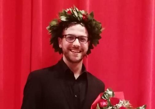 Laurea con 110 e lode con bacio accademico per Alberto Vernarelli