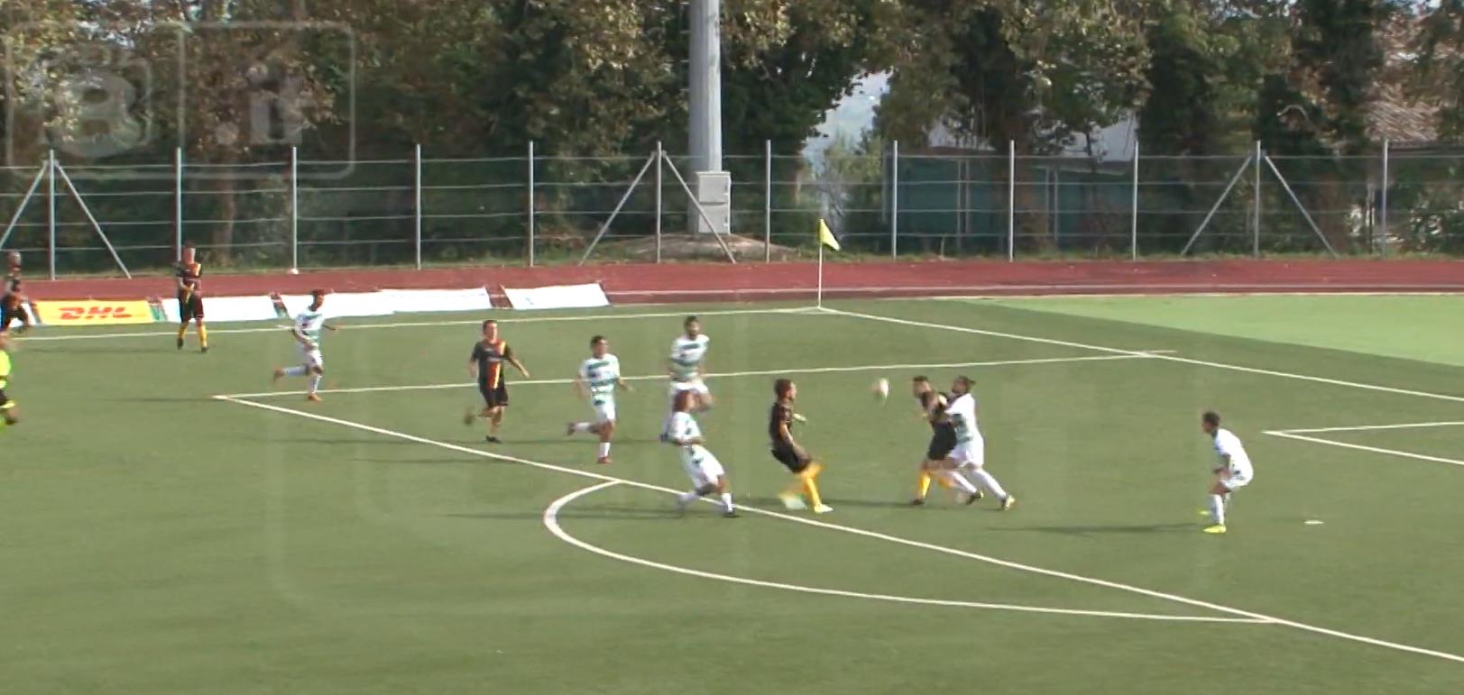 Avezzano stoppata dalla Recanatese dopo due vittorie di fila. Al Tubaldi finisce 1 a 0 per i ragazzi di mister Giampaolo
