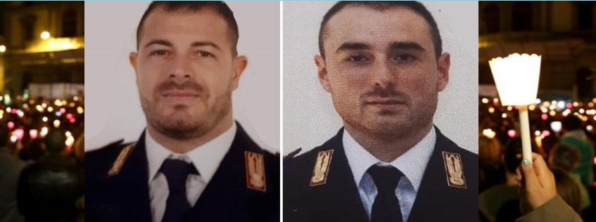 Fiaccolata in ricordo dei Poliziotti Pierluigi Rotta e Matteo Demenego uccisi a Trieste