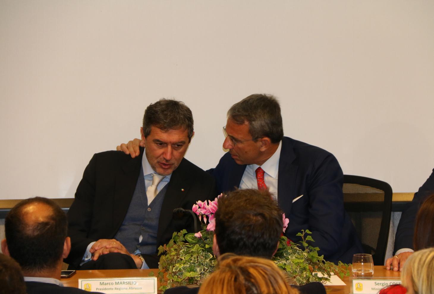 Marsilio incontra il Ministro Costa a Pescasseroli