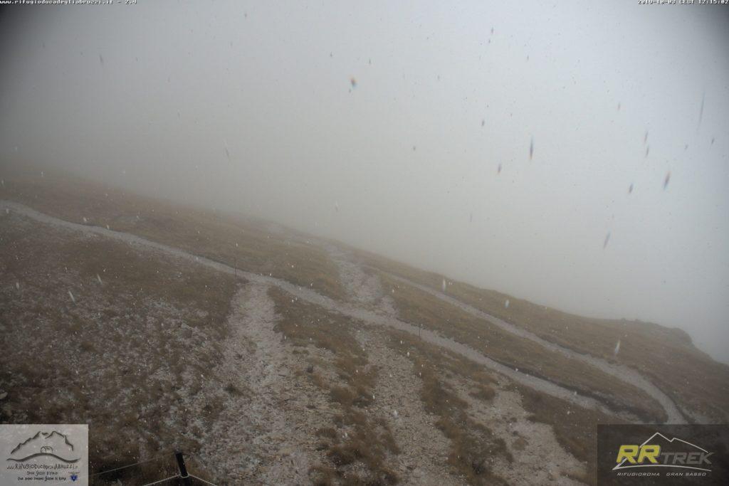 Prima neve in Abruzzo al Rifugio Duca degli Abruzzi