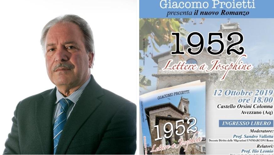 """Giacomo Proietti presenta il suo nuovo romanzo """"1952 Lettere a Josephine"""""""
