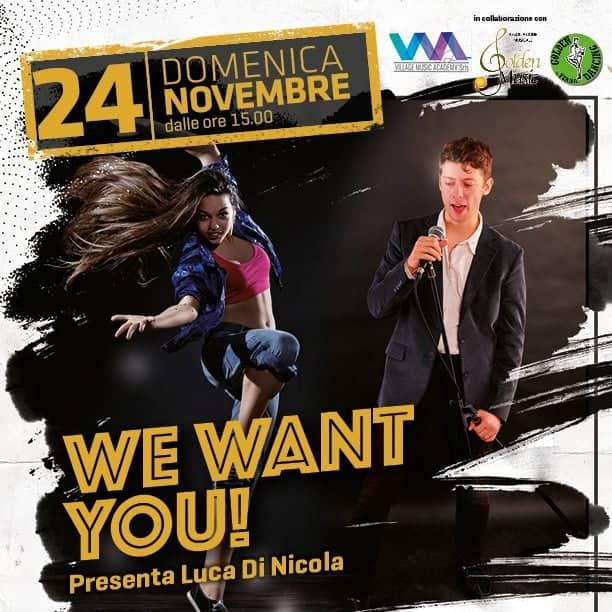 """Ad Avezzano, ai Marsi, arriva lo show nazionale per giovani talenti """"We want you"""""""