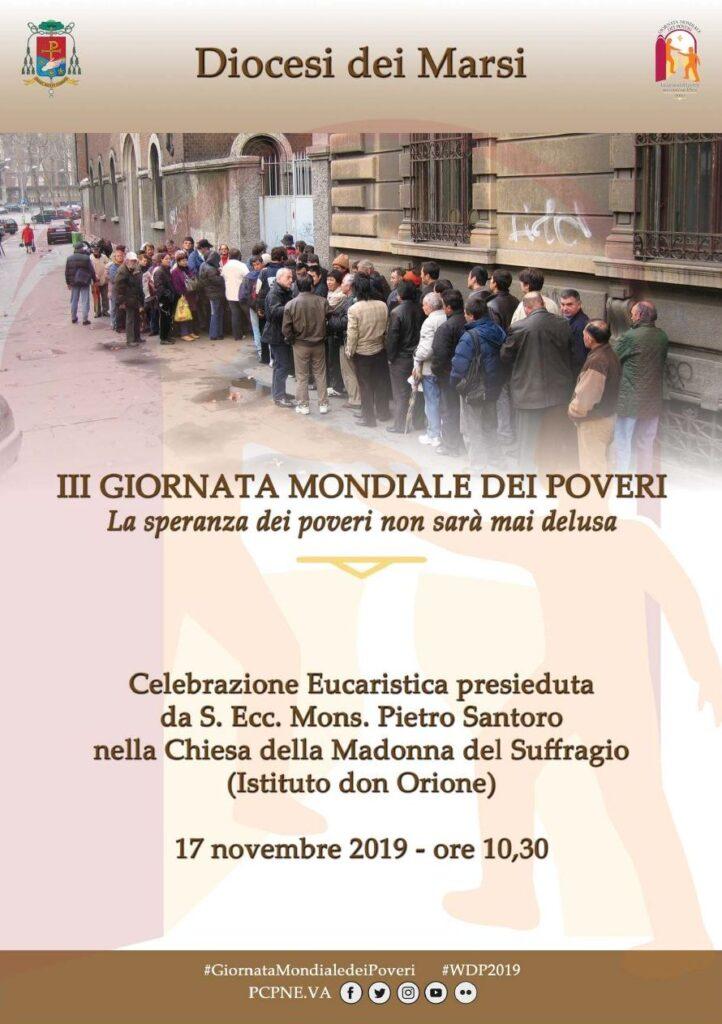 Giornata Mondiale dei Poveri con il vescovo Pietro Santoro