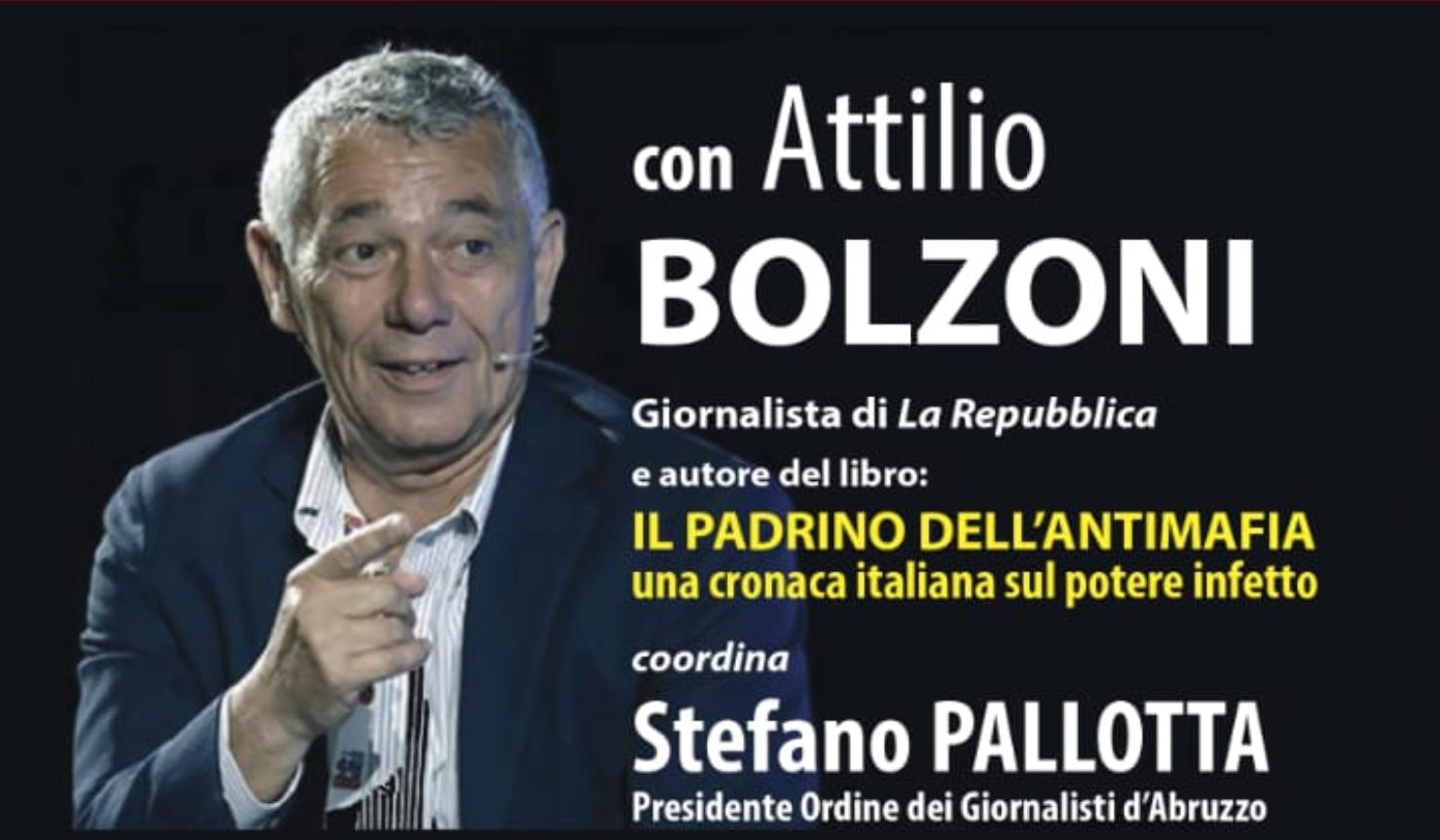 """Ad Avezzano una conferenza su: La mafia trasparente """"Il caso Montante"""" con il giornalista Attilio Bolzoni"""