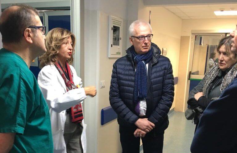 """Il manager ASL Testa in visita all'ospedale di Avezzano """"Vi sono spiccate professionalità ma carenze sul piano strutturale"""""""