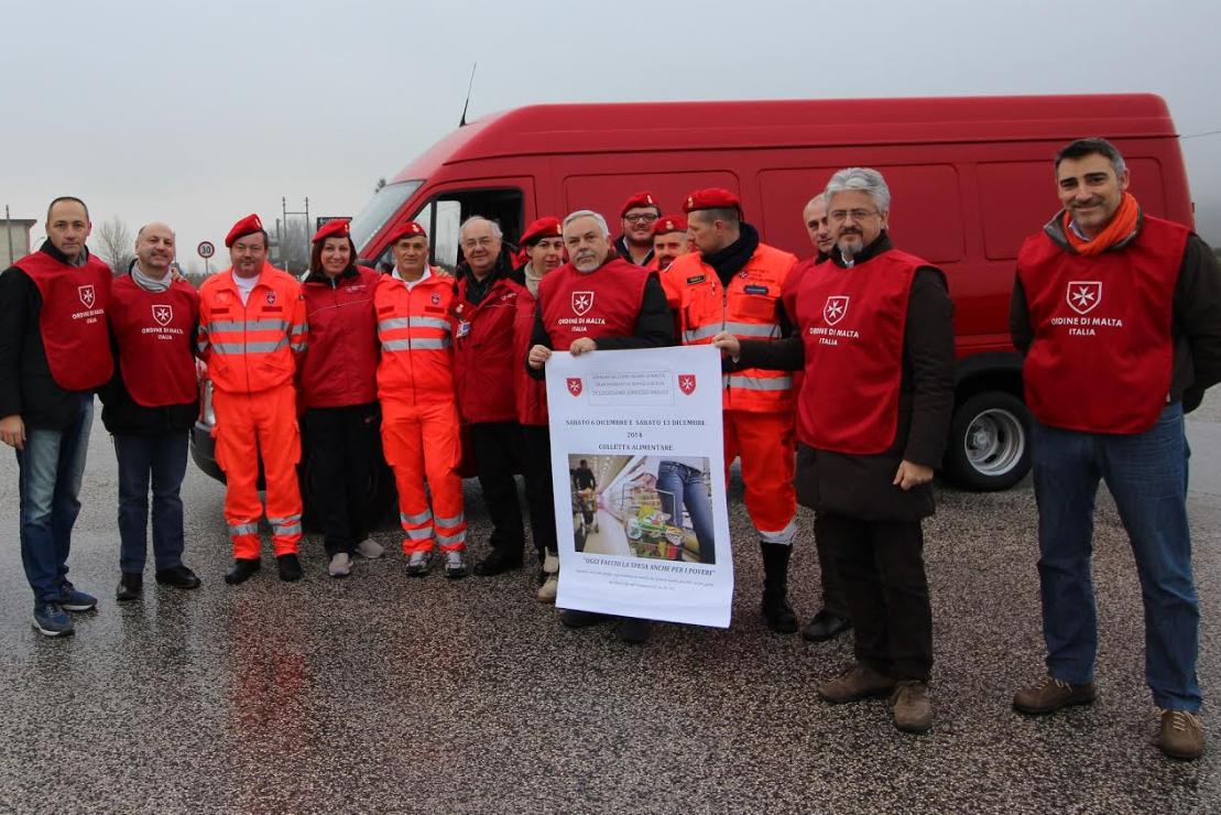 L'Ordine di Malta organizza la raccolta alimentare in favore delle famiglie bisognose della Marsica