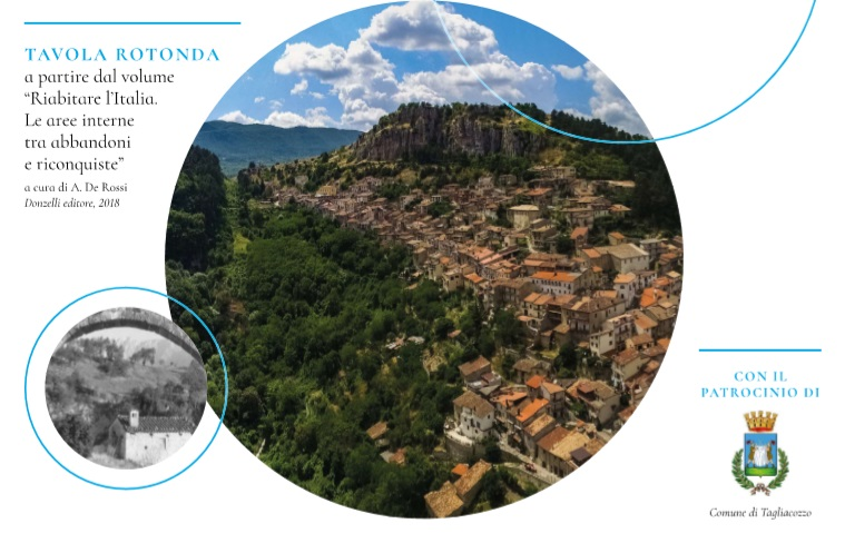 """Tavola rotonda a Tagliacozzo su """"Ripensare le aree marginali, ripensare l'Abruzzo"""""""