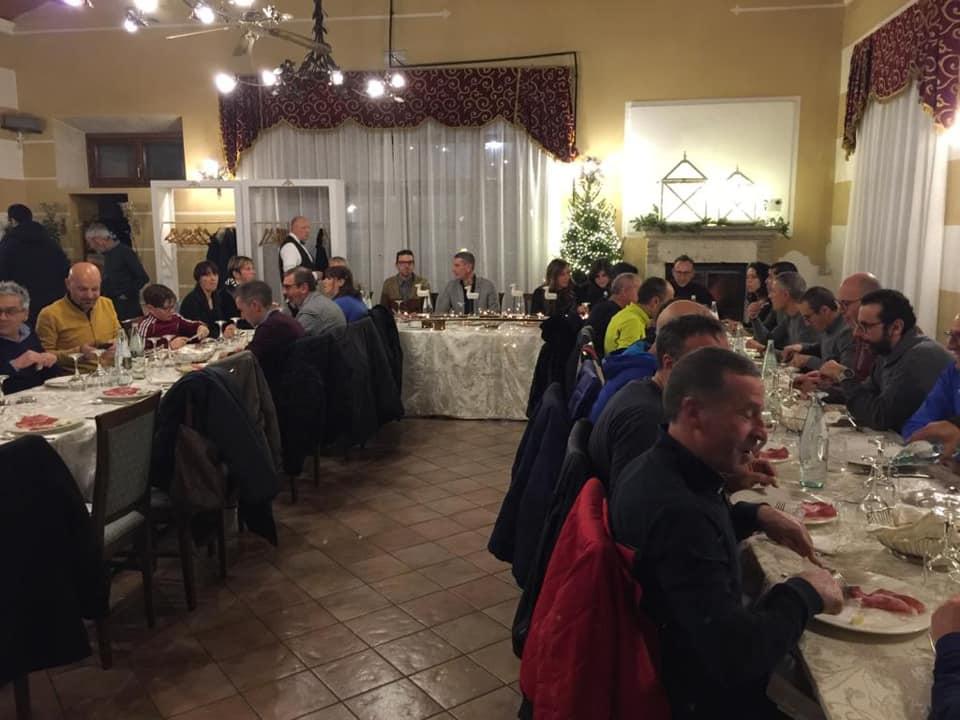 Le società podistiche marsicane a cena per scambiarsi gli auguri di Natale
