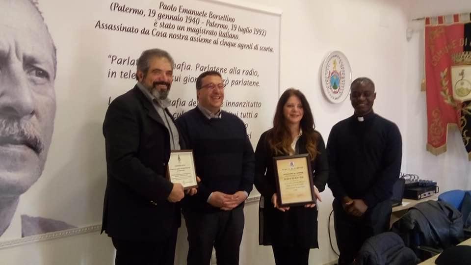 L'amministrazione comunale di Cerchio riconosce e premia i valori di Giancarlo Sociali e Alina di Mattia