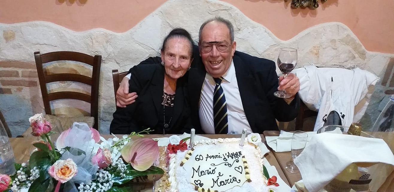 Nozze di diamante, Mario e Maria festeggiano sessant'anni di matrimonio
