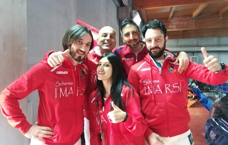 """Il Circolo della Scherma """"I Marsi"""" premiato alla Seconda prova nazionale master di spada"""