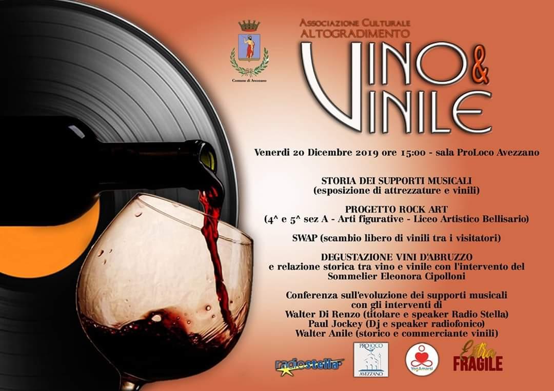Vino e Vinile: grande attesa per l'evento in arrivo ad Avezzano