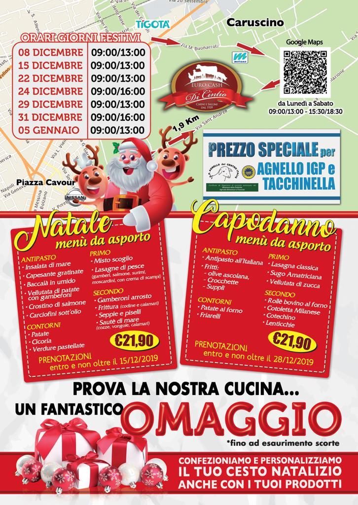 Carni e gastronomia, ecco le straordinarie offerte di Euro Cash per il vostro Natale e Capodanno