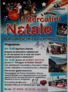 """Tutto pronto per la decima edizione de """"I mercatini DI Natale"""" di Borgrose"""