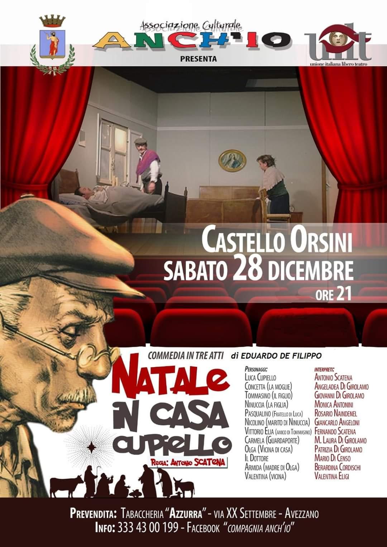"""""""Natale in casa Cupiello"""" al Castello Orsini"""