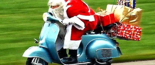 Babbo Natale in Vespa tour ad Avezzano