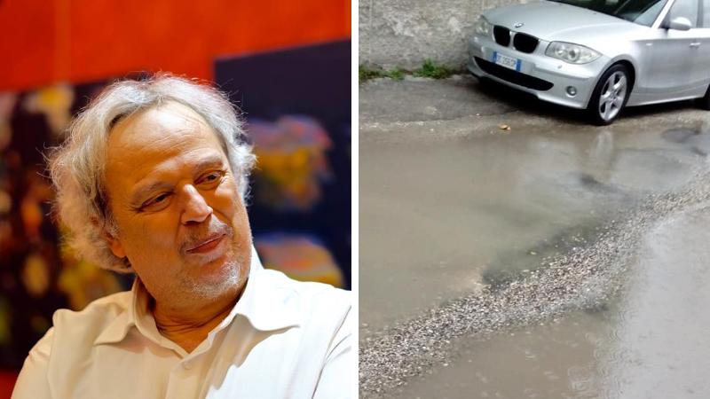 """Via Jugoslavia allagata, Basile a Passerotti """"84mila Euro per le luminarie e niente spiccioli per la manutenzione del manto stradale"""""""