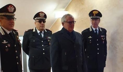 Il Prefetto della Provincia dell'Aquila, Dott. Giuseppe Linardi, in visita di commiato al Comando Provinciale Carabinieri