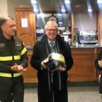 L'Aquila: il Prefetto Linardi saluta i Vigili del Fuoco