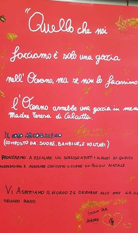 """Il coro """"Arcobaleno"""" all'ospedale di Pescina per regalare un sorriso ai malati"""