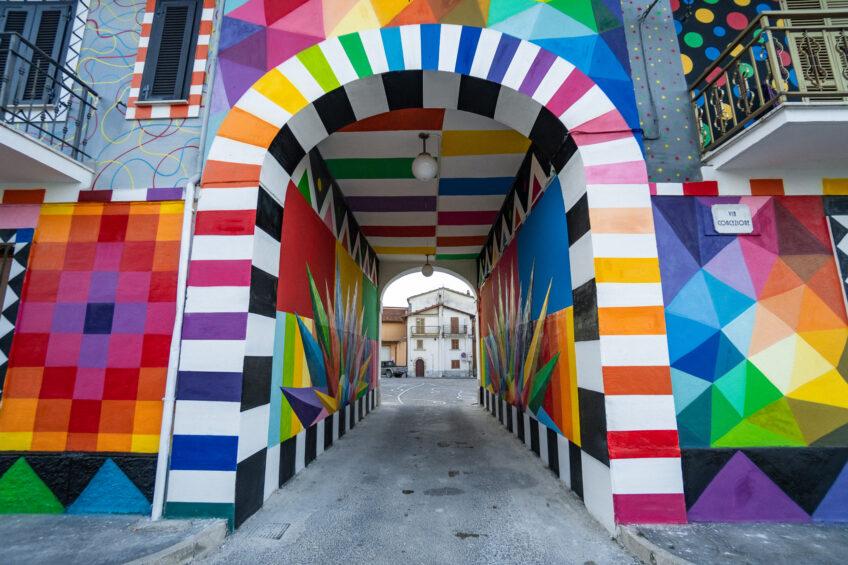 Il murale di Aielli nella classifica dei 55 più belli al mondo stilata da Widewalls