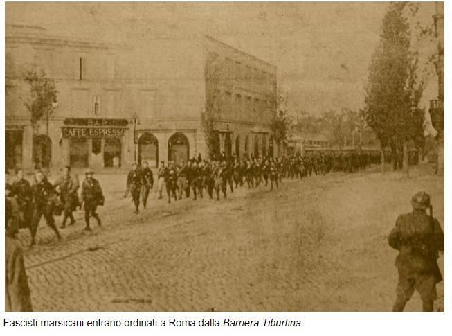 Gli Squadristi Marsicani alla marcia su Roma guidati da Giuseppe Bottai (28 Ottobre 1922)