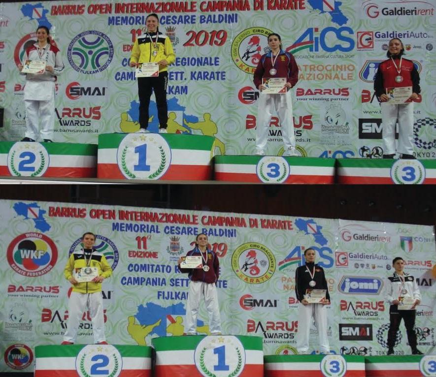 Il karate avezzanese protagonista agli internazionali Open di Campania
