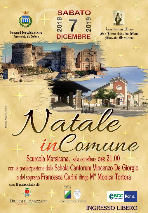 """""""Natale inComune"""" una giornata con i protagonisti locali della cultura e della musica"""