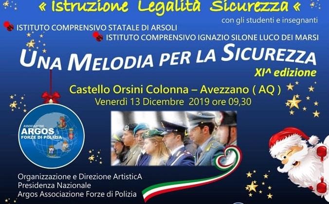 Una Melodia per la Sicurezza, al Castello Orsini musica, prevenzione, legalità