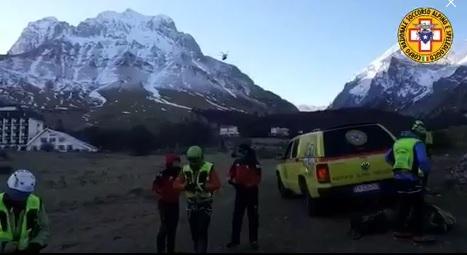 Gran Sasso, incidente alpinistico: sul luogo tecnici del Soccorso Alpino ed elicotteri del 118, due alpinisti morti