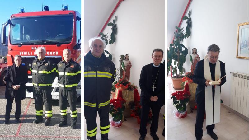 Auguri del Vescovo dei Marsi ai Vigili del fuoco del distaccamento di Avezzano