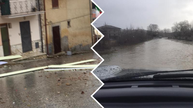 Danni severi per il maltempo nel territorio di Tagliacozzo, NOVPC in azione per il ripristino della viabilità