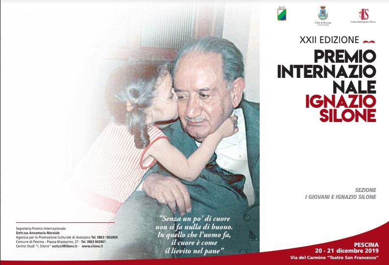 Oggi a Pescina la cerimonia di premiazione della 22esima edizione del Premio Internazionale Ignazio Silone sezione Giovani