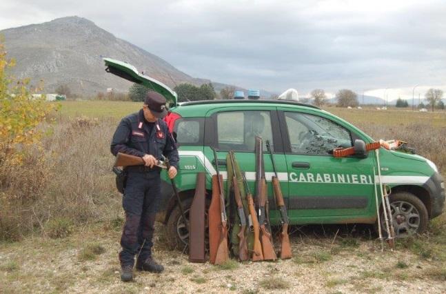 A caccia senza porto d'armi, sequestrato il fucile ad un uomo di Magliano dei Marsi
