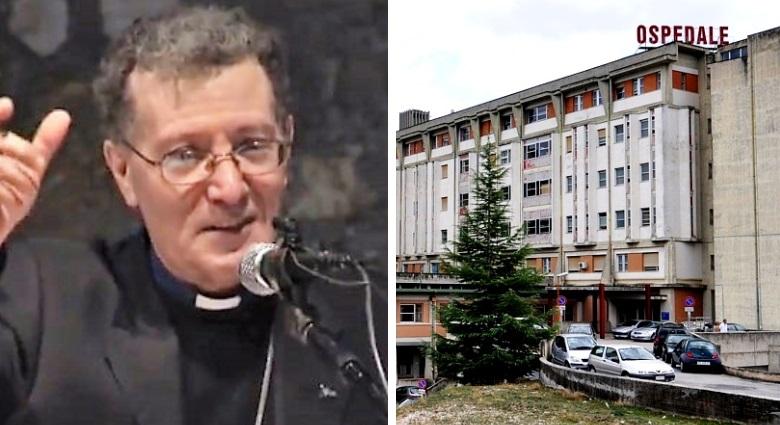 Il Vescovo Santoro al reparto oculistica dell'ospedale di Avezzano per la celebrazione di S. Lucia