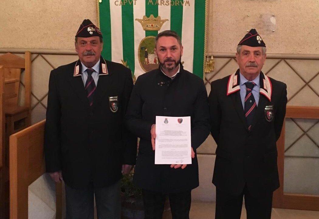 Il comune di Tagliacozzo e l'Associazione dei Carabinieri in congedo rinnovano la convenzione per i servizi di utilità sociale