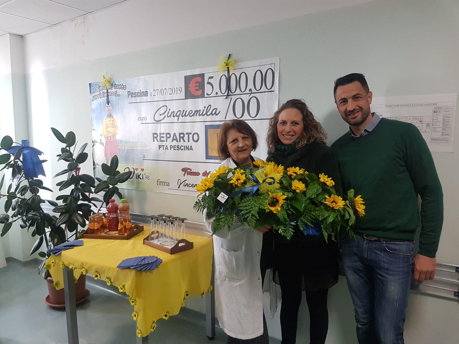 Nuovi climatizzatori all'hospice di Pescina grazie al Torneo dell'amicizia Vincenzo Zauri
